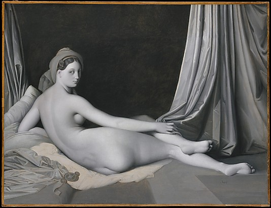 Ingres odalisque grayscale