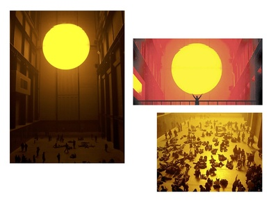 The Weather project by Olafur Eliassen at the Tate Modern in 2003