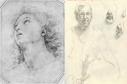 He would send me images of Raphael's drawings... Beginning from only passing familiarity, Raphael's style grew on me. Wouldn't say I tried to emulate, but I definitely tried to improve based on his example.