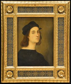 The Ufizzi self-portrait, he said, fueled his fascination with Raphael. I told him I thought they looked alike. It's the eyes.