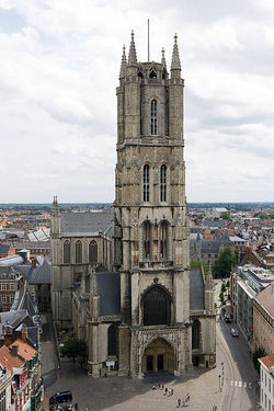 Sint-Baafskathedraal (Saint Bavo Cathedral), here in Ghent where I live, home of the famous Altarpiece by the brothers Van Eyck.