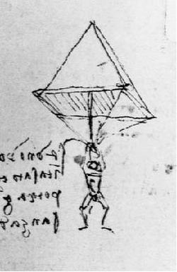 da Vinci's parachute. A symbol between us for taking risks in life, fearlessly.